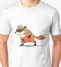 Fat fox pilferer with a stolen heart Unisex T-Shirt