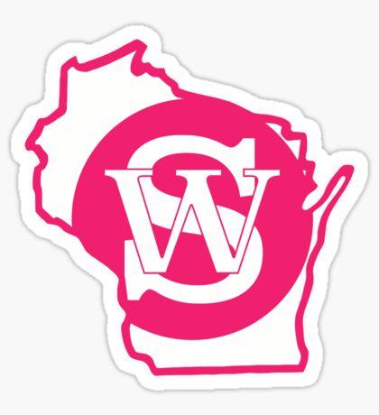 Wisconsin Skinny State pride pink Sticker