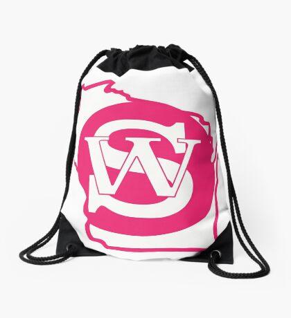Wisconsin Skinny State pride pink Drawstring Bag