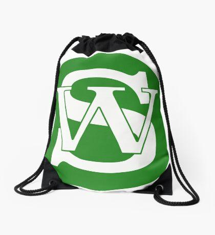 Wisconsin Skinny Pride Green Drawstring Bag