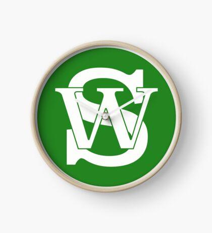 Wisconsin Skinny Pride Green Clock