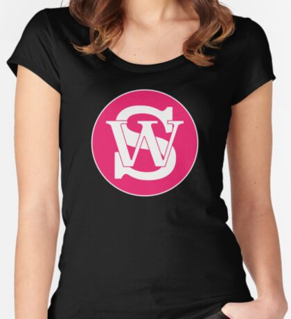 Wisconsin Skinny Pride Pink Women's Fitted Scoop T-Shirt