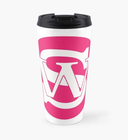 Wisconsin Skinny Pride Pink Travel Mug