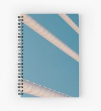 Steel Bridge Cables On Blue Sky Spiral Notebook