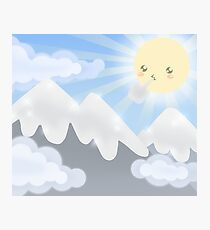 Cute Sky 30- Mountains Photographic Print
