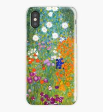 Flower Garden by Gustav Klimt Vintage Floral iPhone Case