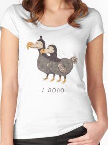 i dodo T-shirt femme moulant à col profond