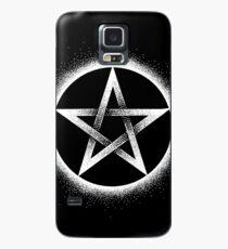 Pentagramm - Weiß Hülle & Klebefolie für Samsung Galaxy