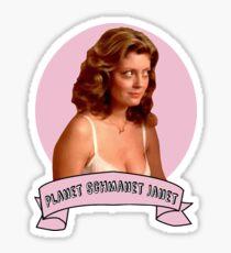 Planet Schmanet Janet Sticker
