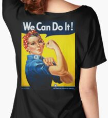 WE CAN DO IT, Rosie the Riveter, Howard Miller, American, wartime, propaganda, poster Women's Relaxed Fit T-Shirt