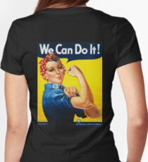 WE CAN DO IT, Rosie the Riveter, Howard Miller, American, wartime, propaganda, poster Womens Fitted T-Shirt
