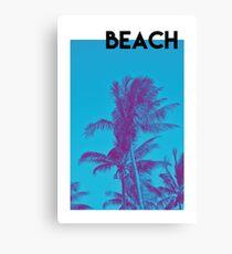 BEACH PALM PHOTOGRAPHY Canvas Print