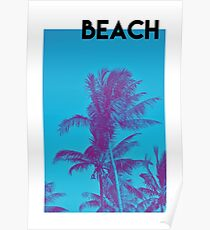 BEACH PALM PHOTOGRAPHY Poster