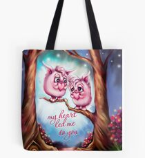My Heart Led Me to You - Valentine Monsters Tote Bag