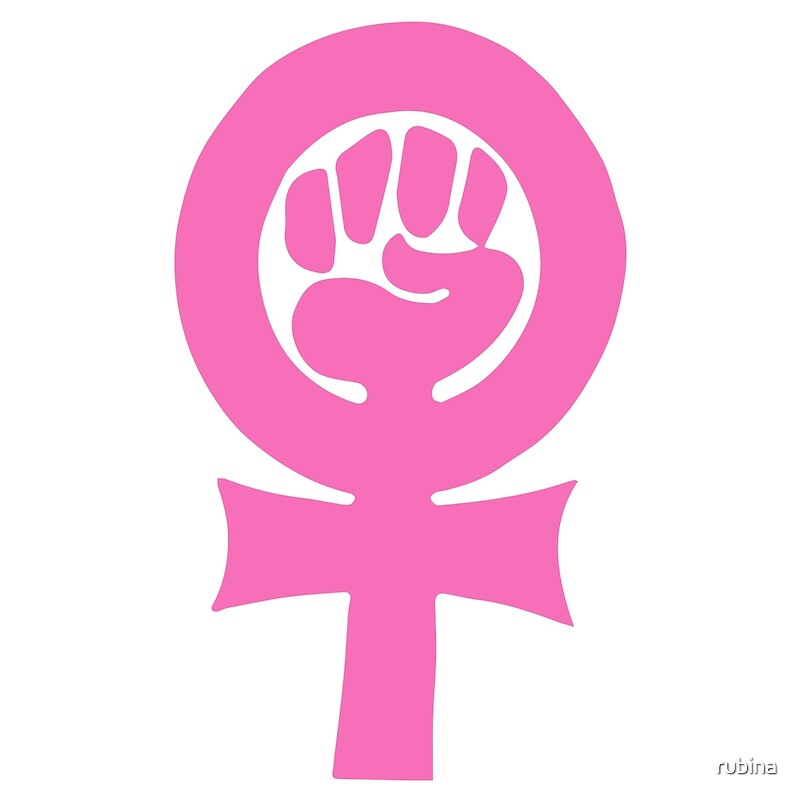 Feminism Clenched Fist Symbol Art Prints By Rubina Redbubble