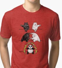 Panda Fusion Tri-blend T-Shirt