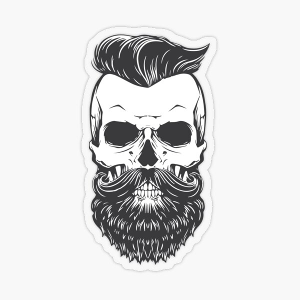 Vintage Hipster Skeleton Transparent Sticker