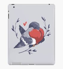 Red Heart Bird iPad Case/Skin