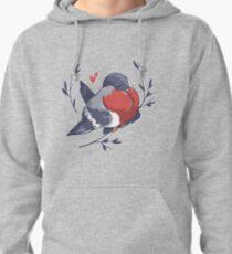 Red Heart Bird Pullover Hoodie