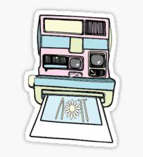 aopi polaroid Sticker