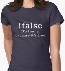 Camiseta entallada para mujer !falso