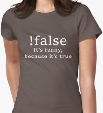 !false Womens Fitted T-Shirt