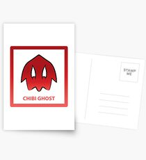 Chibi Ghost 4 Red Postcards