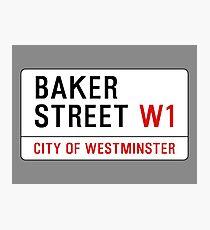 Baker Street Sign – 221B, Sherlock Photographic Print