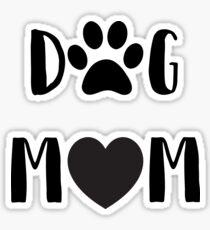 "Funny Dog ""Dog Mom""  Sticker"