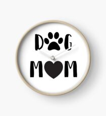 "Funny Dog ""Dog Mom""  Clock"