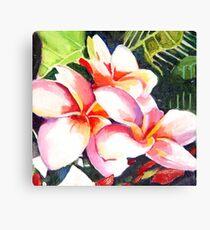 Pink Plumeria Heaven Scent Canvas Print