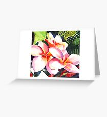 Pink Plumeria Heaven Scent Greeting Card