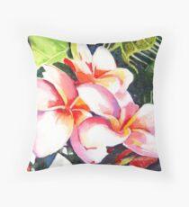 Pink Plumeria Heaven Scent Throw Pillow