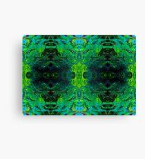 Bright Green Trippy Fun Canvas Print