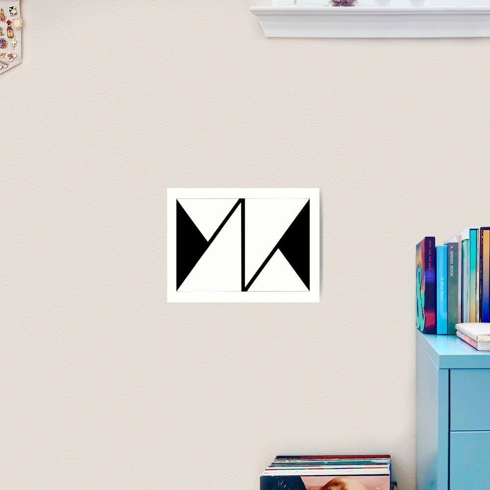 knk white logo Art Print