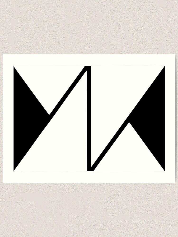 Alternate view of knk white logo Art Print