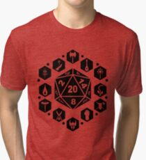 RPG Classes - Black Tri-blend T-Shirt