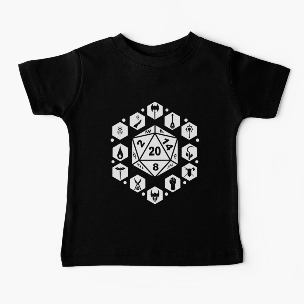 RPG Classes - White Baby T-Shirt