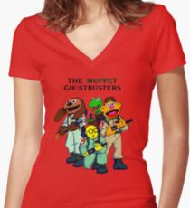 Muppet Ghostbusters Women's Fitted V-Neck T-Shirt