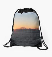 Frosty Sunrise Drawstring Bag