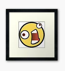 Crazy emoji Framed Print