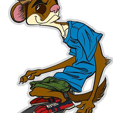 Weasel Skateboarder by ThomasBlue