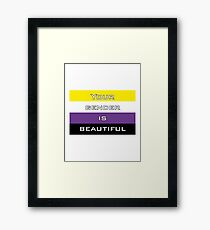 Gender is Beautiful Nonbinary Framed Print