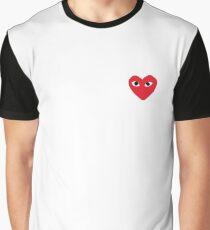 Comme Des Garcons - Play Graphic T-Shirt