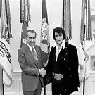 Elvis Meeting Nixon (1970) by 45thAveArtCo