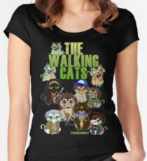 THE WALKING CATS Women's Fitted Scoop T-Shirt