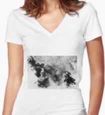 Splattered Women's Fitted V-Neck T-Shirt