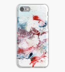 Red and blue abstract iPhone Case/Skin