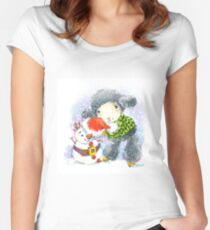 sheep. 01. New Year series Women's Fitted Scoop T-Shirt
