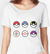 Pokeball Set with Heal Ball Women's Relaxed Fit T-Shirt